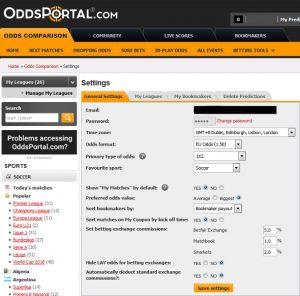 Membandingkan odds pada taruhan judi bola